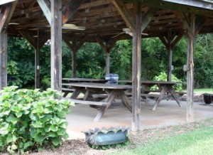 Pergola with Picnic Tables